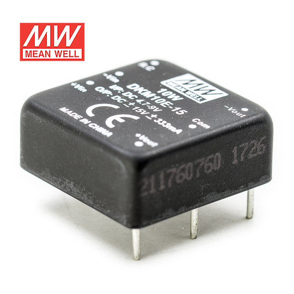 Meanwell DKM10E-15 DC-DC Converter - 10W - 4.7~9V in ±15V out