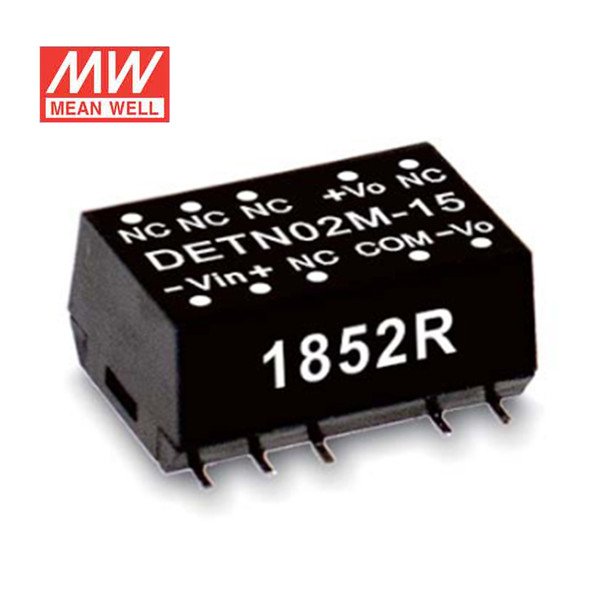 Meanwell DETN02L-05 DC-DC Converter - 2W - 4.5~5.5V in ±5V out