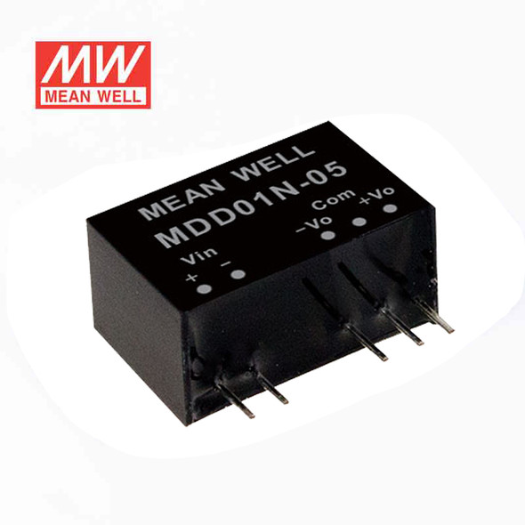 Meanwell MDD01L-12 DC-DC Converter - 1W - 4.5~5.5V in ±12V out