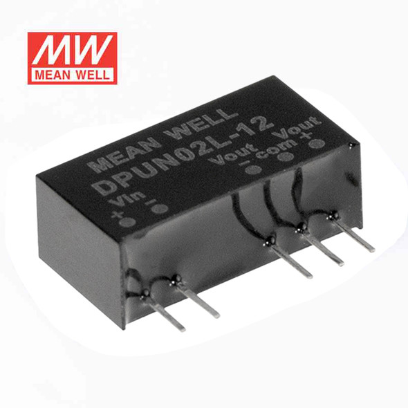Meanwell DPUN02L-05 DC-DC Converter - 2W - 4.5~5.5V in ±5V out