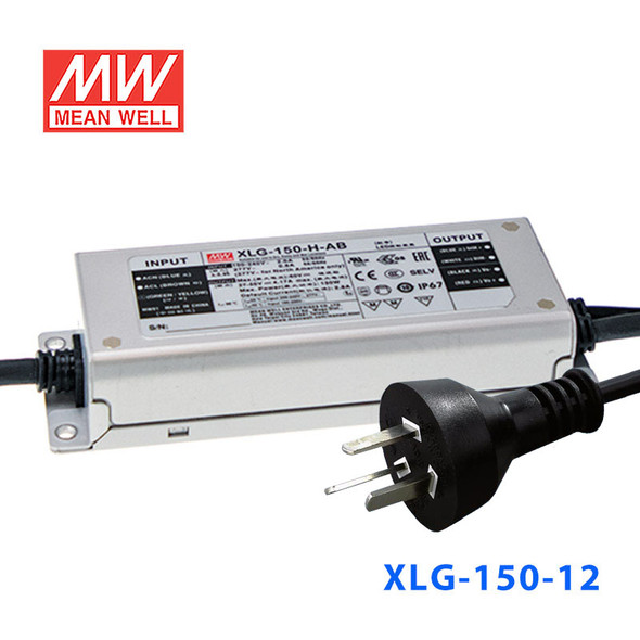 Mean Well S-XLG-150-12 Power Supply 150W 12V with AU/NZ plug
