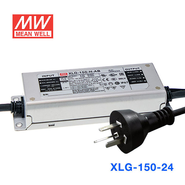 Mean Well S-XLG-150-24 Power Supply 150W 24V with AU/NZ plug