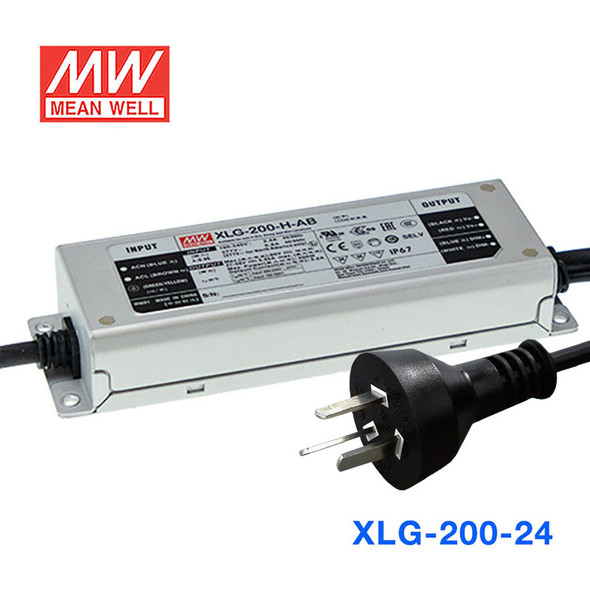 Mean Well S-XLG-200-24 Power Supply 200W 24V with AU/NZ plug