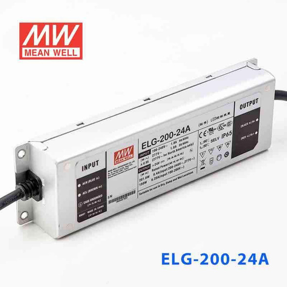Mean Well S-ELG-200-24A Power Supply 200W 24V - Adjustable with AU/NZ plug