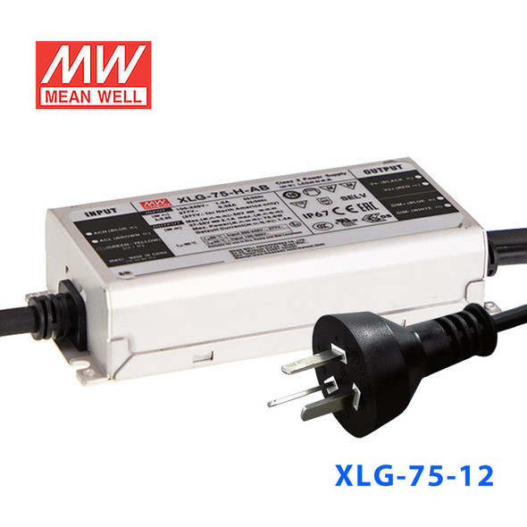 Mean Well S-XLG-75-12 Power Supply 75W 12V with AU/NZ plug
