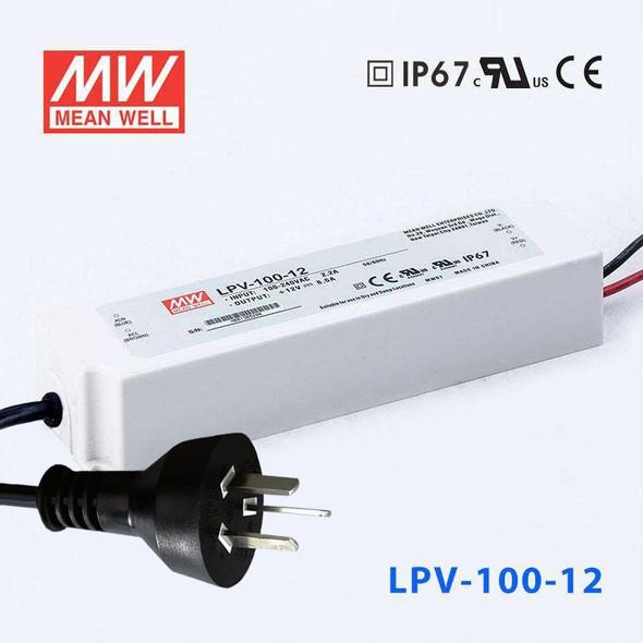 Mean Well S-LPV-100-12 Power Supply 100W 12V with AU/NZ plug