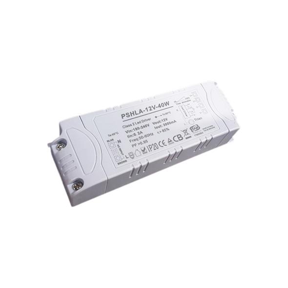 Thinkwise PSHLA-12V-40W Triac Dimmable Power Supply - 40W 12V 3.33A -  Screw Terminal