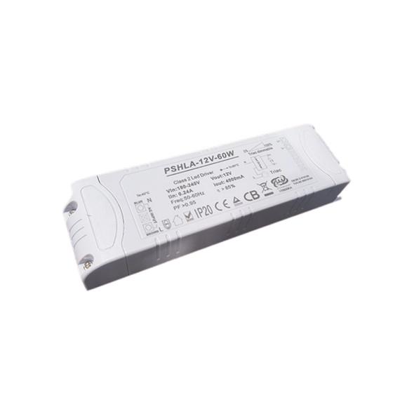 Thinkwise PSHLA-12V-60W Triac Dimmable Power Supply - 60W 12V 5A -  Screw Terminal