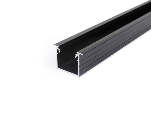 Archilight VRITOS Decorus In LED Extrusion Profile Recessed Profile - 2 Metre - Black