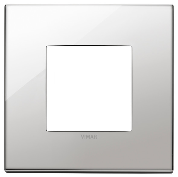 Vimar Eikon Plate 2M Metal Titanium - Square