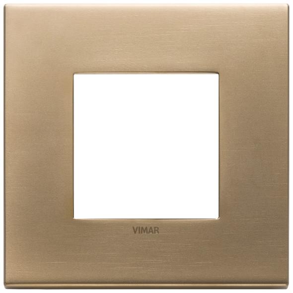 Vimar Eikon Plate 2M Metal Antique Gold - Square