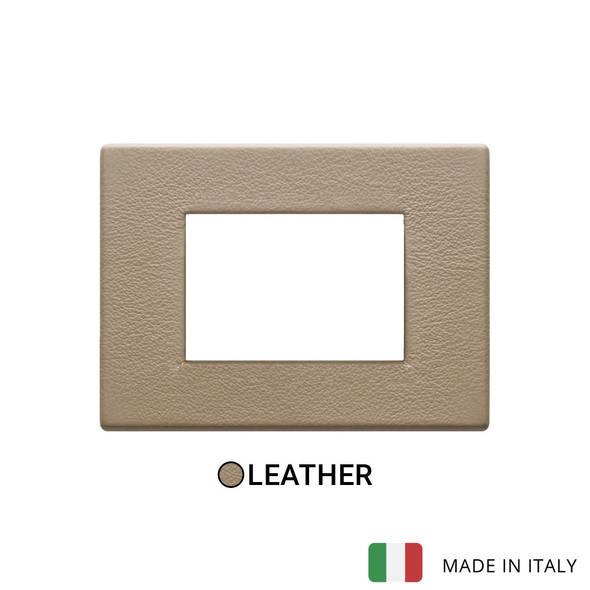 Vimar Eikon Plate 3M Leather Savannah Beige