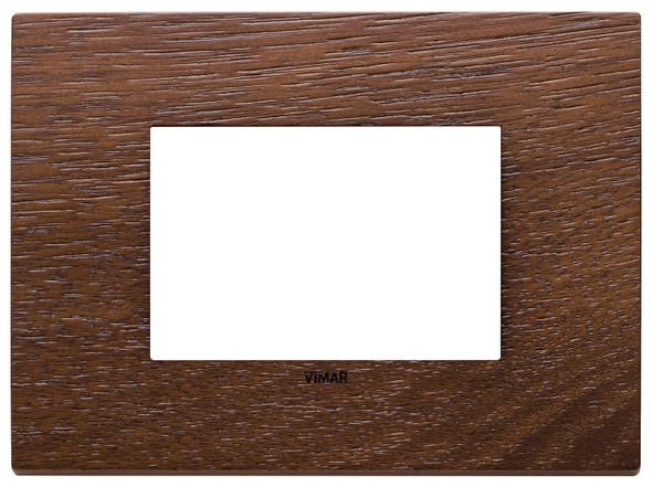 Vimar Eikon Plate 3M Wood American Walnut