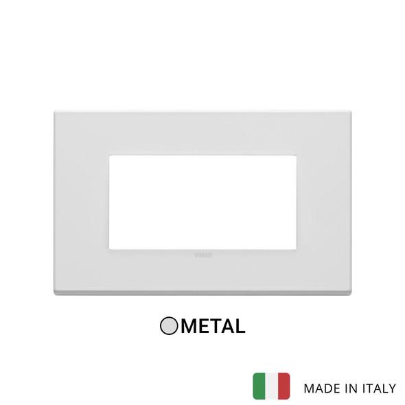 Vimar Eikon Plate 4M Metal Matt White