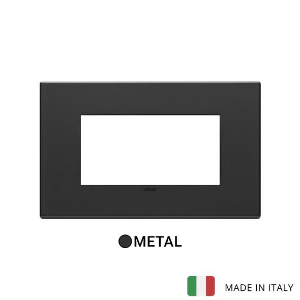 Vimar Eikon Plate 4M Metal Anthracite Grey