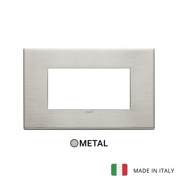 Vimar Eikon Plate 4M Metal Brushed Nickel