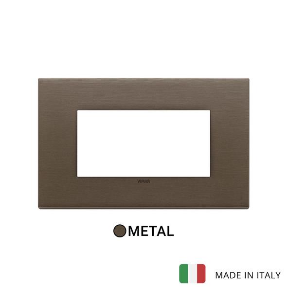 Vimar Eikon Plate 4M Metal Brushed Dark Bronze