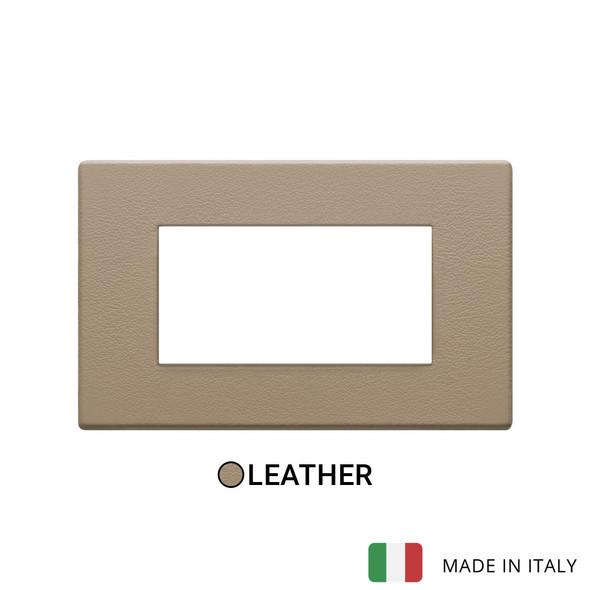 Vimar Eikon Plate 4M Leather Savannah Beige