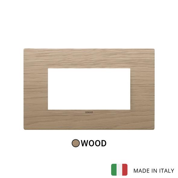 Vimar Eikon Plate 4M Wood Oak