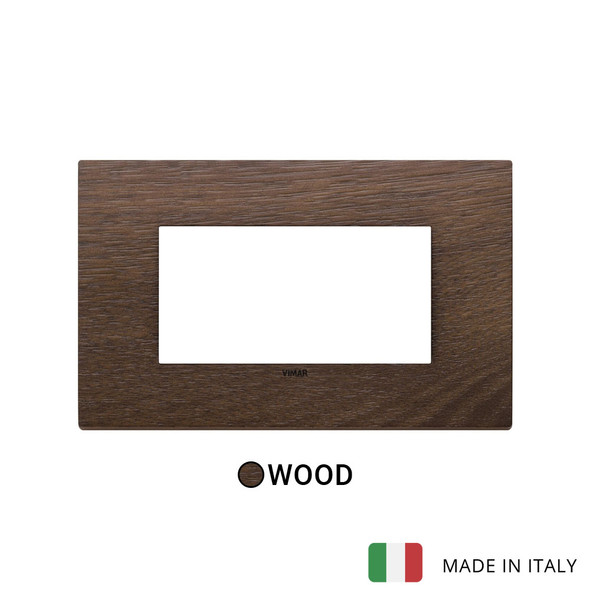 Vimar Eikon Plate 4M Wood American Walnut