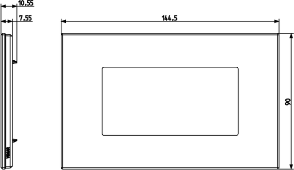 Vimar Eikon Plate 4M Marbl.Stoneware Black Marquina