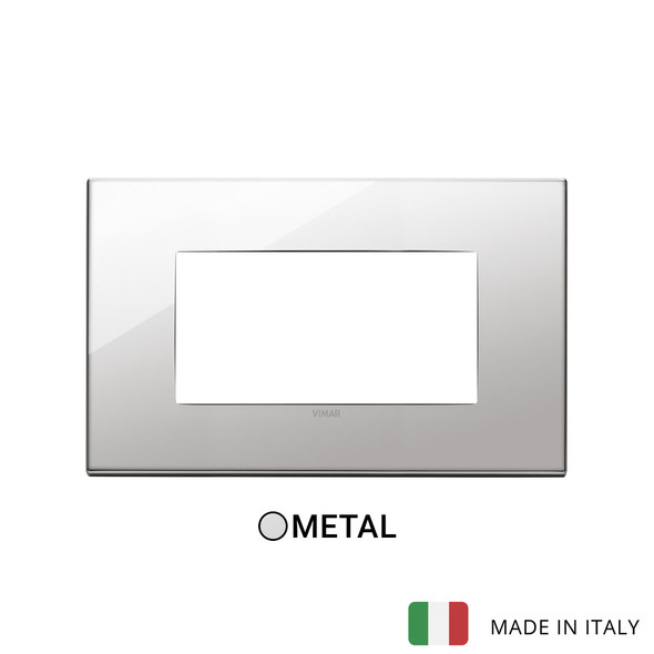 Vimar Eikon Plate 4M Metal Titanium