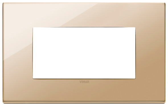 Vimar Eikon Plate 4M Polished Metal Gold