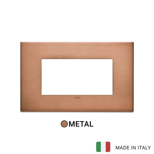 Vimar Eikon Plate 4M Metal Brushed Copper