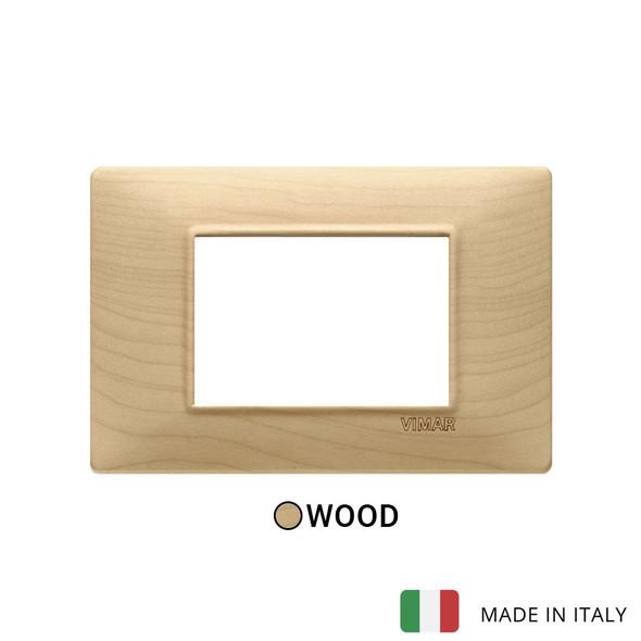 Vimar Plana Plate 3M Wood Maple