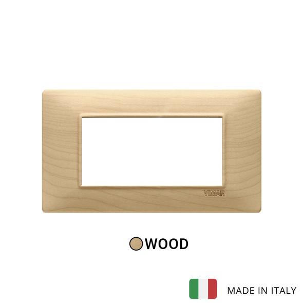 Vimar Plana Plate 4M Wood Maple