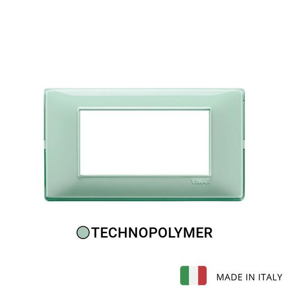 Vimar Plana Plate 4M Reflex Green Mint