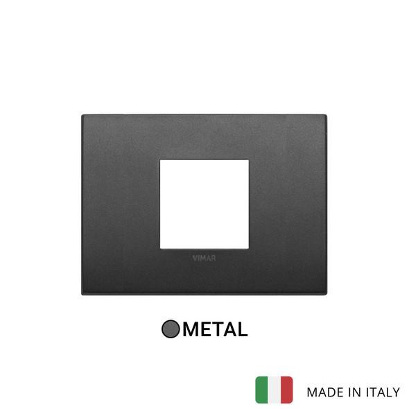 Vimar Arke Classic Plate 2centrM Metal Matt Graphite