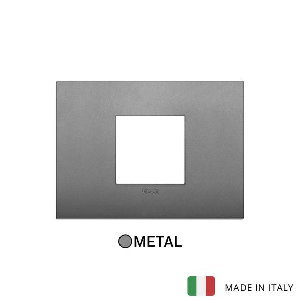 Vimar Arke Classic Plate 2centrM Metal Matt Slate Grey