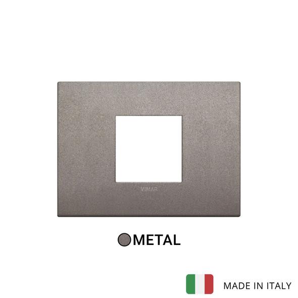 Vimar Arke Classic plate 2centrM Metal Matt Titanium