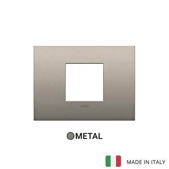 Vimar Arke Classic Plate 2centrM Metal Matt Beige