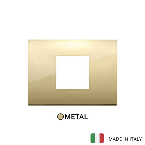 Vimar Arke Classic Plate 2centrM Metal Gold