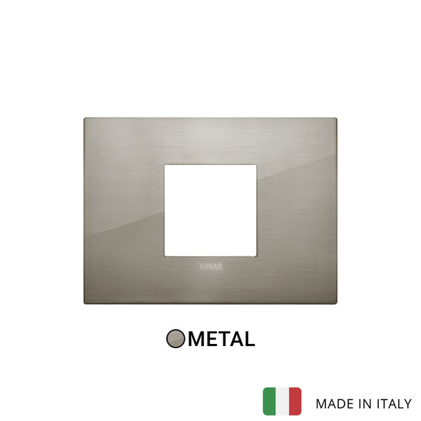 Vimar Arke Classic Plate 2centrM Metal Brushed Inox