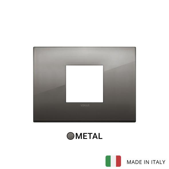Vimar Arke Classic Plate 2centrM Metal Black Chrome