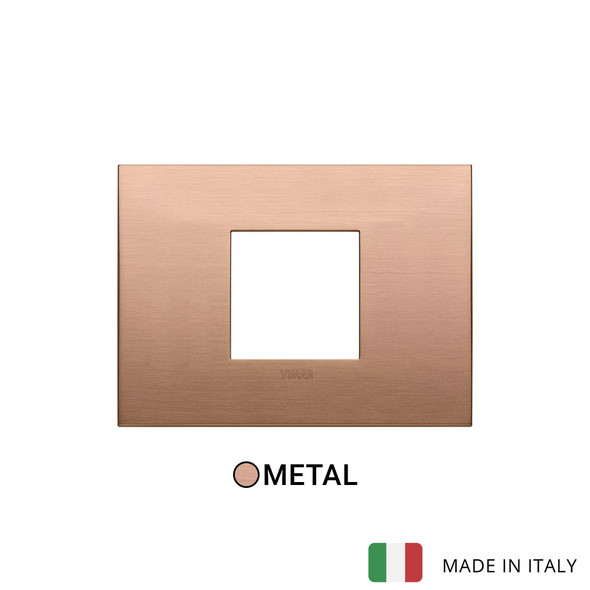 Vimar Arke Classic Plate 2centrM Metal Brushed Copper