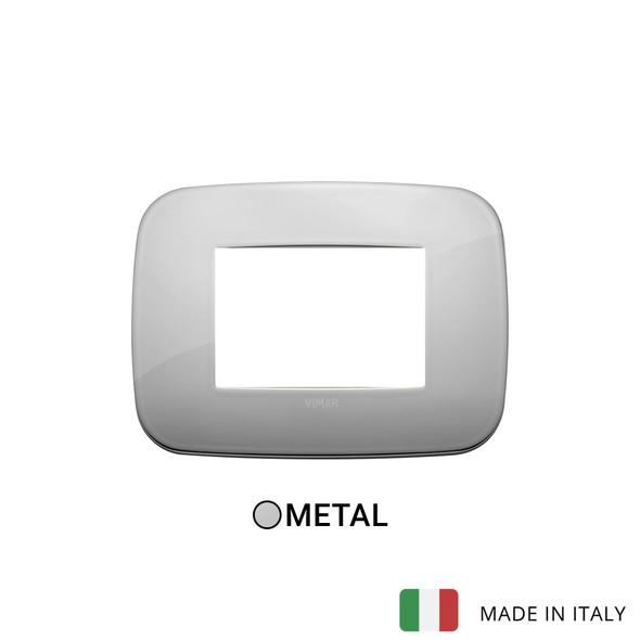 Vimar Arke Round Plate 3M Metal Chrome