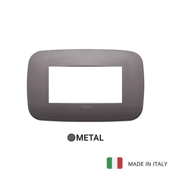 Vimar Arke Round Plate 4M Metal Dark Nickel