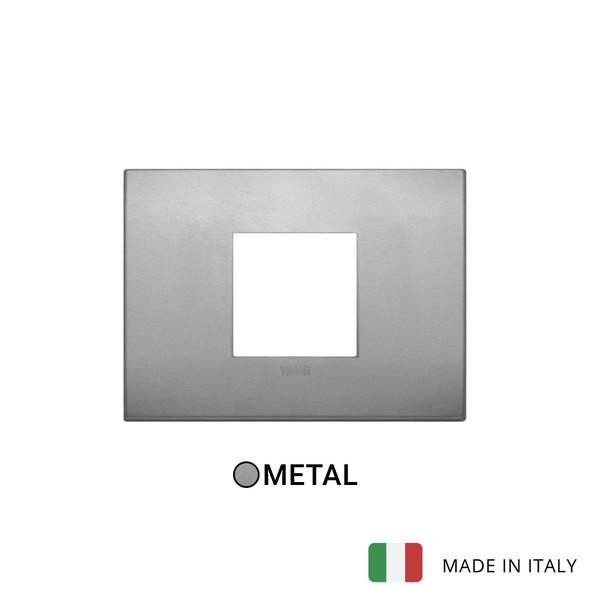 Vimar Arke Classic Plate 2centrM Aluminium Lava