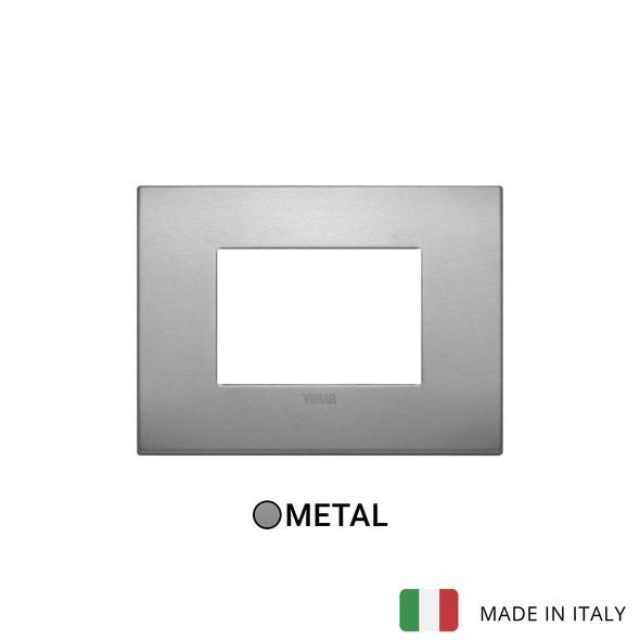 Vimar Arke Classic Plate 3M Aluminium Lava