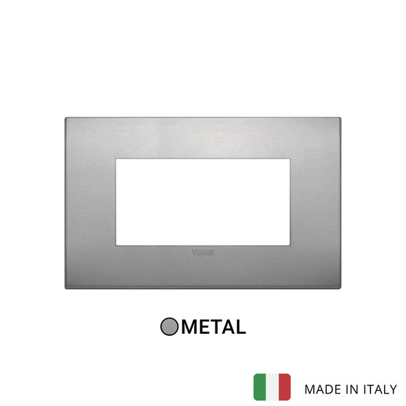 Vimar Arke Classic Plate 4M Aluminium Lava