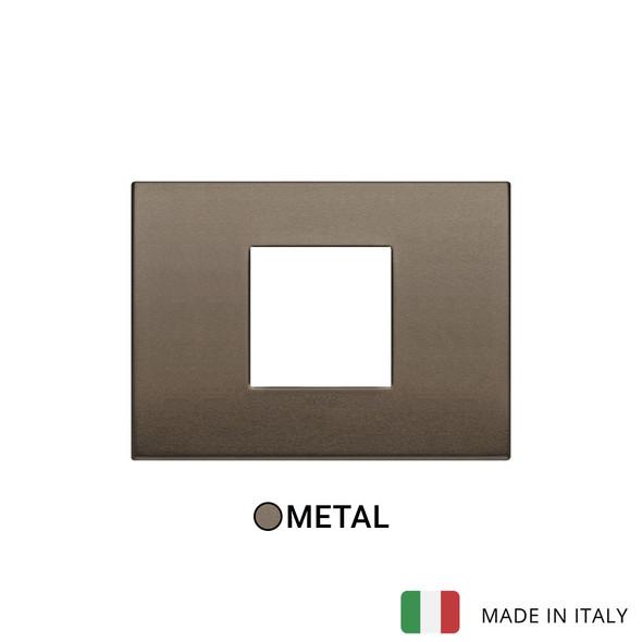 Vimar Arke Classic Plate 2centrM Aluminium Dark Bronze