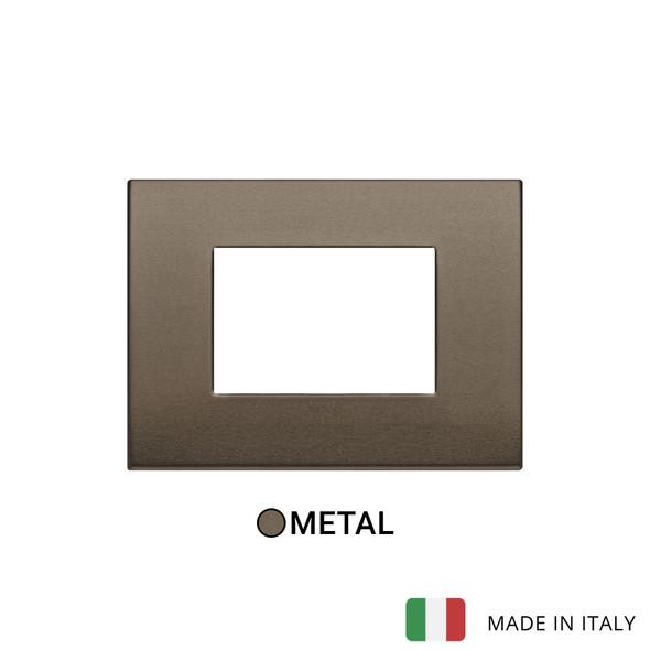 Vimar Arke Classic Plate 3M Aluminium Dark Bronze