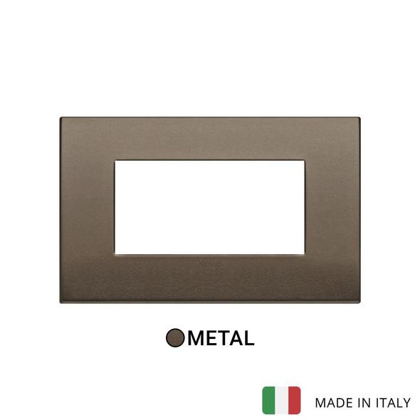Vimar Arke Classic Plate 4M Aluminium Dark Bronze