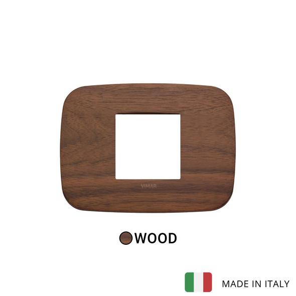 Vimar Arke Round Plate 2centrM Wood Walnut