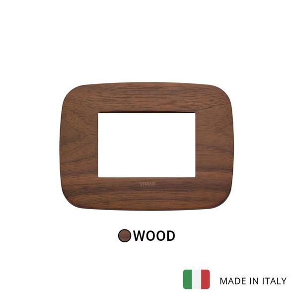 Vimar Arke Round Plate 3M Wood Walnut