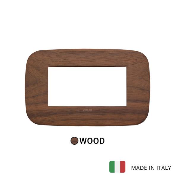 Vimar Arke Round Plate 4M Wood Walnut